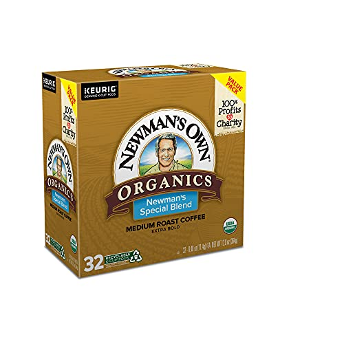 Newman's Own Organics Special Blend, Single-Serve Keurig K-Cup Pods, Medium Roast Coffee, 32 Count