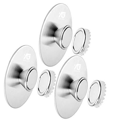 BESTonZON 3 Stück Magnetischer Seifenhalter Wandhaftung Seifenorganisatoren Hängen Seifenschoner Vereinfachen für Badezimmer Küche