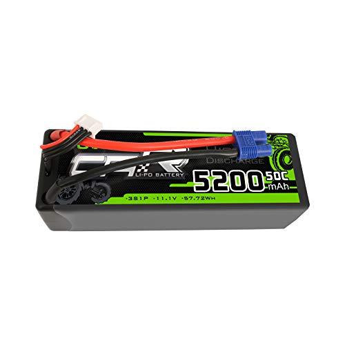 OVONIC 3S LiPo Batteria 5200mAh 50C 11.1V LiPo con Spina EC3 per 1/8 RC Auto 1/10 Camion Aereo Elicottero Barca