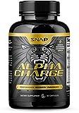 Libido Booster for Men - Alpha Charge by Snap Supplements - L-Arginine, L-Citruline, Long Jax, Testosterone- Full Spectrum Nutrition for Firmness, Enhancement, Libido and Manhood - 60 Pills