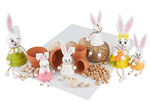 VBS Kreativ-Set Tontopf-Hasen für 6 Osterhasen