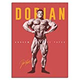 Workout Posters for Home Dorian Yates BodybuilderPoster Wall Paints for Room Decor Painting Print on Canvas Decorations Living Room Wall Art picuture Unframe-X1 20×27inchs(50×70cm)