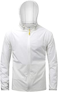 Men's solid color summer plus size sun protection long-sleeved hooded jacket