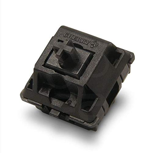 Cherry MX Black Key switches (10 Pieces)- MX1AG1NN | Plate Mounted | Linear Switches for Mechanical...