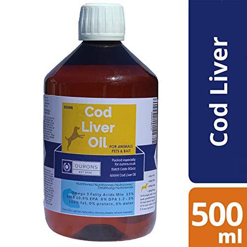 Pure Cod Liver Oil Liquid for Dogs - 500ml