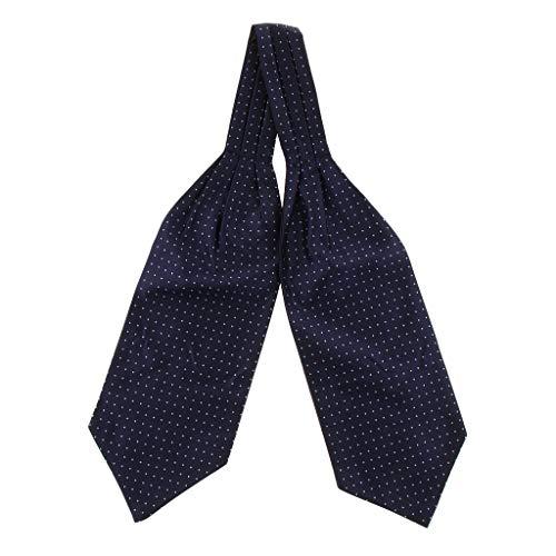 F Fityle Cravatta Uomo Ascot Maschile Motivi Floreali Geometrici Accessorio Moda Per Regalo Uomo - Blu, 15cm