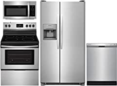 "FFSS2615TS 36""Side by Side Refrigerator FFEF3052TS 30""Electric Range FFMV1645TS 30""Over the Range Microwave FFCD2418US 24""Built In Dishwasher"