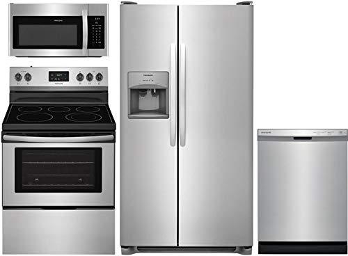 Frigidaire 4 Piece Kitchen Package FFSS2615TS 36'Side by Side Refrigerator,FFEF3052TS...