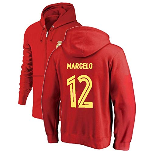 R & R Enterprises Marcelo Vieira da Silva Junior # 12 Winter-Reißverschluss-Sport Hoodie verdicken Hoodie Outdoor-Sweatshirt Warm Jacke Souvenirs (Color : Red, Size : X-Large)