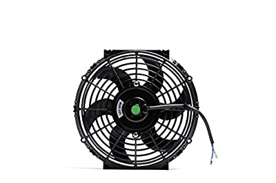 Engine Radiator Cooling Fan 14 Inch Curved Blade Ultra Thin Universal High Performance 12V 120W 4 Angle Of Motor 3000 CFM?With Fan Mounting Kit?Puller and Pusher Design?