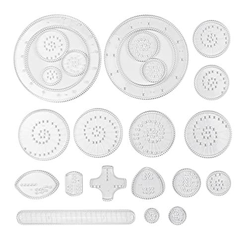 10/12/22 Caleidoscopio Juguetes Niños Dibujo Conjunto Multifuncional Regla Mágica Juguetes Educativos para Niños Desarrollo de Inteligencia y Capacidad Práctica (22 componentes)