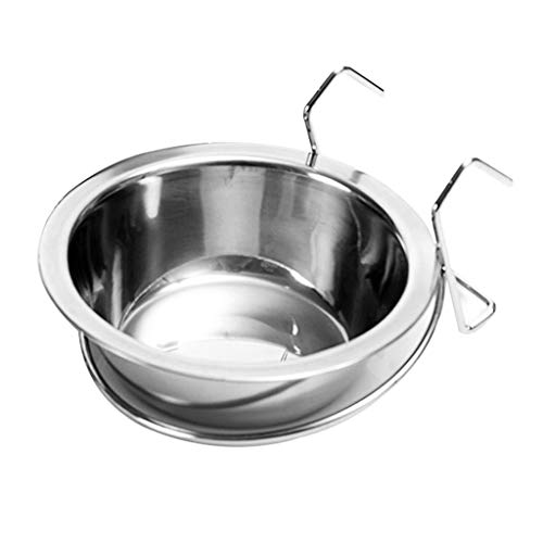 WT-DDJJK Hanging Bowl,Stainless Steel Pet Hanging Bowl Feeding Dog Puppy Cat Bird Parrot Food Water Cage Cup Holder Feed Products