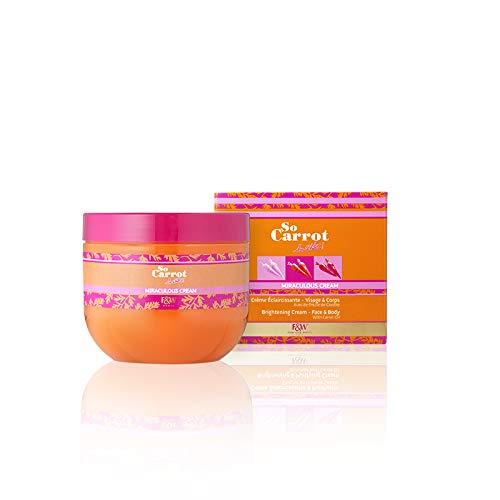 Crème éclaircissante visage et corps Miraculous Cream - So Carrot ! - 250ml - Teint lumineux et éclatant