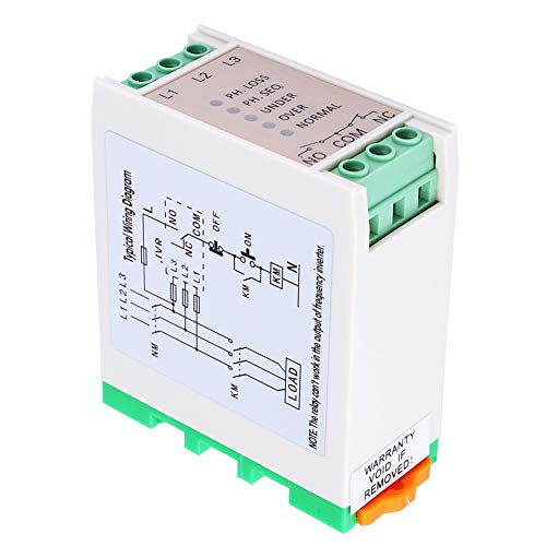 MaWeZedu 1Pcs 380VAC 3 Phase Power Supply Monitor Relay, Overvoltage and Undervoltage Phase Sequence Protector, Voltage Monitoring Relay, for Air Compressors, Electric Motors