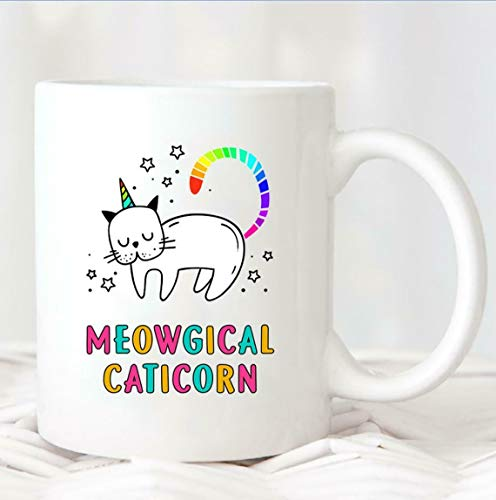 Meowgical Caticorn Tasse 416 Caticorn Kaffeetasse süße Katze Einhorn Meowgical Mug 325 ml