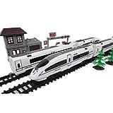 Magnética eléctrica del tren del juguete de plástico con pilas de carga modelo del tren de la locomotora del vehículo de juguete for la pista con iluminación LED / Pistas y Accesorios ( Color : A )