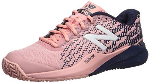 New Balance Women's 996 V3 Clay Tennis Shoe, Pink/Pigment, 5 D US