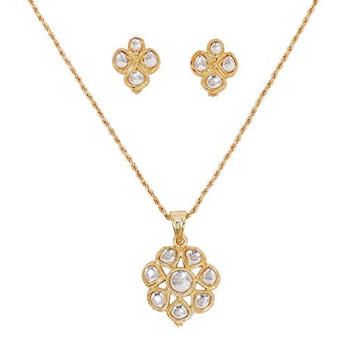 Touchstone con Clase Pendiente de Oro Conjunto Floral para Las Mujeres
