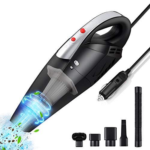 Aspirapolvere per Auto Aspirapolvere Senza Filtri HEPA in con Luce LED Alimentazione di Aspirazione 7000Pa Aspirabriciole Portatile Potente 12V 120W per Auto