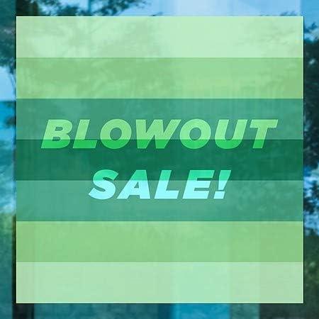 5-Pack CGSignLab 12x12 Blowout Sale Modern Gradient Window Cling