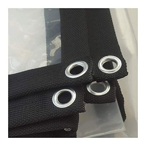 GDMING Lonas Impermeable Lona De Protección Tarea Pesada Reforzado Al Aire Libre Cubierta De Hoja De Tierra Toldo De Plástico con Ojales Transparente PVC,24 Tamaños (Color : Clear, Size : 2x2m)