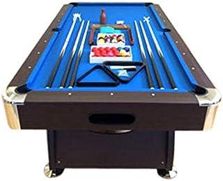 Simba 8 Piedi Vintage Blu- Mesa de billar profesional, 220 x 110 cm, 150 kg, color marrón con esquinas cromadas y tela azul.
