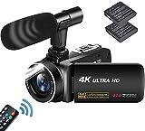 Caméscope 4K Caméra vidéo 30MP 18X Vlogging avec LED Fill Light Caméscope numérique