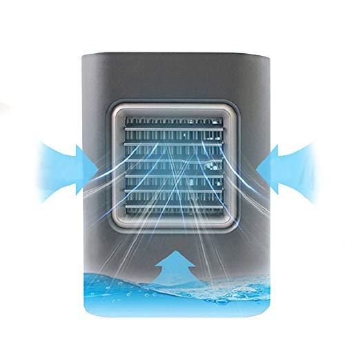WUSTEGCCF Persönlicher Raumluftkühler, USB Mini Air Conditioner LüFter Luftreiniger LüFter, Desktop-LuftküHler Evapolar Conditioner Arctic Office Home,Grey