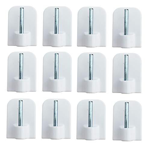 Iloda® 24x Gardinenhaken weiß Klebehaken Haken selbstklebend für Vitragestangen