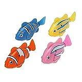 2 PCS juguete electrónico realista mini robótica pez pescado de la robótica pescado para niños (Colorful)