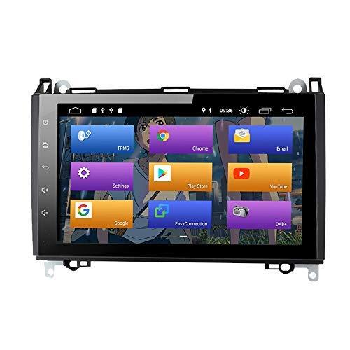 BOOYES per Mercedes-Benz W169 W245 B160 B170 B180 B200 W639 Vito Viano W906 Sprinter VW Crafter Android 10.0 Autoradio Stereo Stereo GPS 9'Car Lettore multimediale Car Auto Play OBD Dab Mirror Link