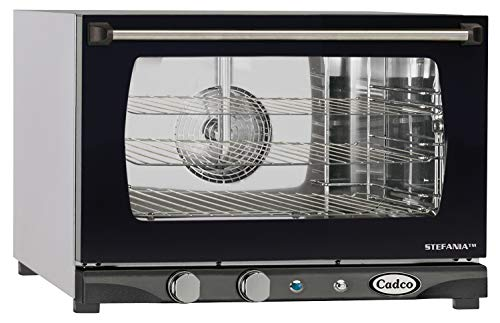 Cadco XAF-113 Half Size Convection Oven with Manual Controls and Humidity, 120-Volt/1450-Watt, Stainless/Black
