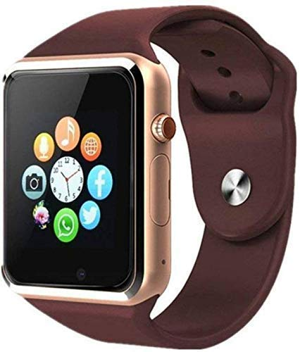 NEFI A1 Android Smart Watch / Bluetooth Touch Screen Smart Band Compatible with All Mobile Phones for Boys and Girls (Gold)