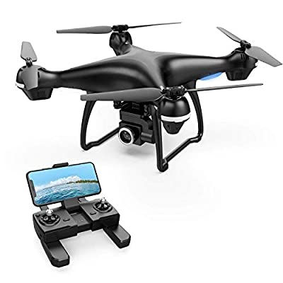 Holy Stone GPS FPV RC Drone HS100 with Camera Live Video 1080P HD and GPS Return Home Quadcopter with Adjustable Wide-Angle WIFI Camera Follow Me, Altitude Hold, Intelligent Battery Long Control Range