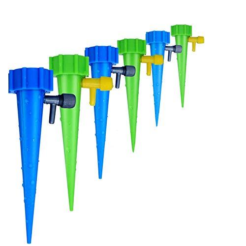 CoWalkers Los dispositivos de riego automático de Waterer de planta con interruptor de válvula de control de liberación lenta, Vacaciones automático riego por goteo Cuidado de riego Tus viajes de flores Olvidar plantas en macetas (6 Pcs)