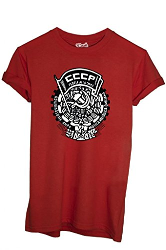 MUSH T-Shirt CCCP FEDELI alla Linea - Politic by Dress Your Style Uomo-M