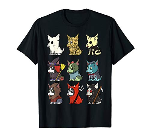 Boston Terrier Gruselige Kostüme Halloween Geschenk T-Shirt