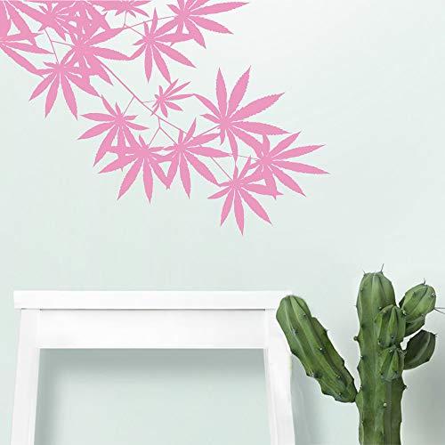 Die Maple Leaf Home Decor Wandaufkleber wasserdicht für Wohnzimmer Schlafzimmer Wandkunst Dekoration Weiß L 43cm X 60cm