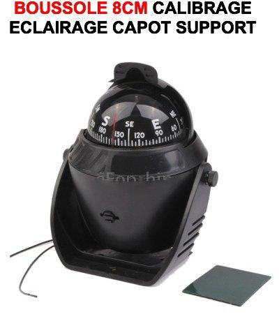 Unbekannt Kompass LCM2014 Kompass, 8 cm auf Fuß mit Beleuchtung. Special 4X4 mit KaLIBRAGE! Farbe: Schwarz. Raid Preparation 4X4