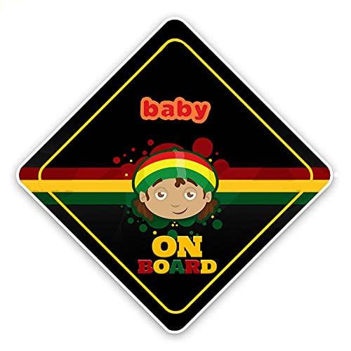 JKGHK Aangepaste Auto Sticker Cartoon Gekleurd Waarschuwingsteken Baby Op Bumper Bumper Bumper Venster Decoratie Waterdichte Zonnecrème 15cm * 15cm-reflecterend