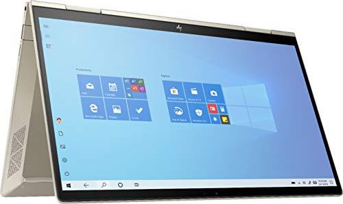 Product Image 1: 2020 HP Envy x360 2-in-1 13.3″ FHD IPS Touchscreen Laptop Intel Evo Platform 11th Gen Core i7-1165G7 8GB Memory 512GB SSD Pale Gold – Backlit Keyboard -Fingerprint Reader -Thunderbolt – WiFi 6