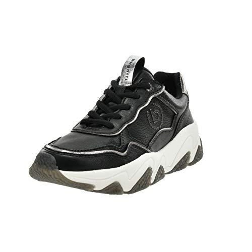 bugatti Damen 432846015059 Sneaker, Schwarz (Black/Grey 1015), 36 EU