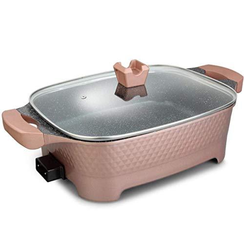 WJJJ Hot Pot Électrique Barbecue Grill Multi-Function Cuisinière Électrique Grande Capacité Pot À Aliments Chinois pour La Fête À La Maison