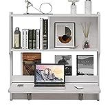 Home Office Desk Workstation,Floating Desk with Storage Shelves,Wall-Mounted Table Desk...