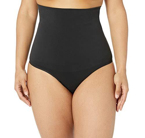 Yummie Women's Danielle High Waist Shape Thong, Black, Large/X-Large