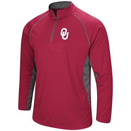 Colosseum Men's NCAA-Rival-1/4 Zip Pullover-Oklahoma Sooners-Crimson-XXL