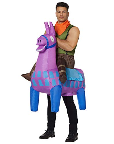 Spirit Halloween Adult Giddy Up Inflatable Fortnite Costume   Officially Licensed