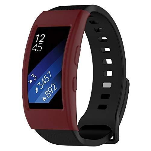 Housse de Protection Film de Protection écran de Cas Intelligent Dispositif Portable, Galaxy Vitesse FIT2 / FIT2 Pro R360 Montre étui de Protection (Rouge foncé) (Color : Dark Red)