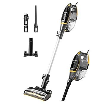 Eureka Flash Lightweight Stick Vacuum Cleaner 15KPa Powerful Suction 2 in 1 Corded Handheld Vac for Hard Floor and Carpet Black