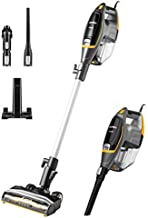 Eureka Flash Lightweight Stick Vacuum Cleaner, 15KPa Powerful Suction, 2 in 1 Corded Handheld Vac for Hard Floor and Carpet, Black